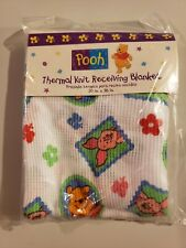 NEW Vintage Winnie The Pooh Thermal Knit Receiving Blanket Baby Little Bedding
