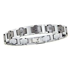Men's Tungsten Carbide & Diamond Bracelet  **Brand New Style**  .18 Ct Total Wt.