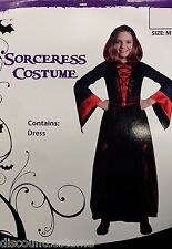 Deluxe Sorceress Hooded Dress Costume Halloween Costume Medieval Child Size Lrg