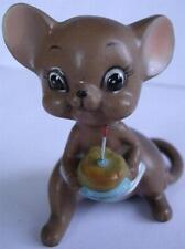 Josef Original Mice Mouse Ceramic Figurine Happy Birthday Cake Vintage c.1960's