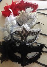 Venetian Party Mask Feather Lace  Masquerade Ball Carnival Fancy Dress 4 colours