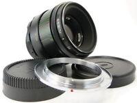 MMZ ⇒ BelOMO HELIOS 44-2 Russian Made in USSR💫 Lens M42 + Adapt. Nikon F Mount