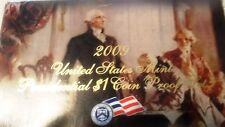 2009 United States Mint Presidential $1 Coin Proof Set with certificate