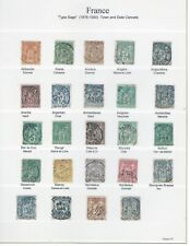 France  - Type Sage 1876-1900 - Town cancels - FU stamps - 9 scans