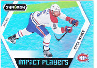 17/18 SYNERGY...SHEA WEBER...IMPACT PLAYER...CARD # IP-46....CANADIENS