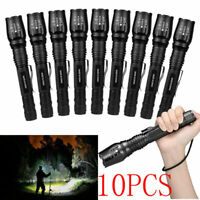 Lot Tactical 200000Lumen 5-mode T6 Zoomable 18650 LED Flashlight Torch Aluminum