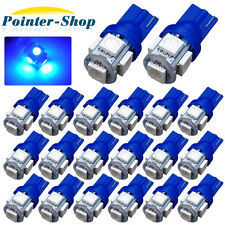 20 X Ultra Blue T10 5-SMD 5050 LED CAR INTERIOR Light Bulbs 2825 194 168 W5W 12V