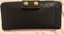 Marc Jacobs Black Leather Zip-Around Wallet