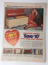 Original Clipping Ad 1954  LANE Cedar Hope Chest Valentine's Valentine Vintage