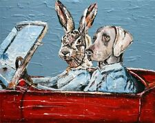 GILLIE AND MARC. Direct from artists. Authentic Art Print 'Convertible' 'Love'