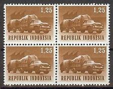 Indonesia 1964 Sc# 627 Trailer Truck block 4 MNH