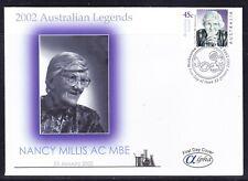 "Australia 2002 ""Alpha"" Nancy Millis First Day Cover Apm34330 Sheet Variety"