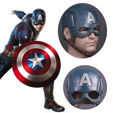 The Avengers Captain America Mask Halloween Fancy Ball Latex Helmet Props New