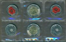 2015 Canada REMEMBRANCE Coin Pack IN FLANDERS FIELDS AND COLORED POPPY