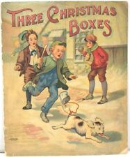 Three Christmas Boxes 1907 McLoughlin Brothers, Illus by Noble Ives w/ 4 Color