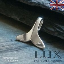 Sterling Silver Majestic Nautical Fish Mermaid Whale Tail Pendant
