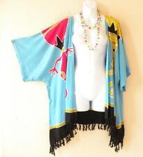 Blue Gecko Plus Cardigan Duster Jacket Kimono Sleeve Cover up - 2X, 3X, 4X & 5X