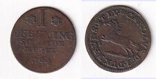 Cu Pfennig 1764 Braunschweig-W. Nasenkarl Roß Pferd Welter 2784 stampsdealer