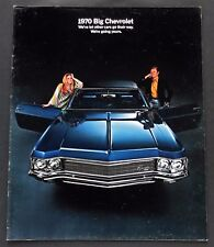 ORIGINAL 1970 CHEVROLET IMPALA ~ CAPRICE ~ BEL AIR  SALES BROCHURE~24 PAGES~70CF