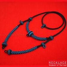 "28"" Necklace Rope Wax Handmade Thai Style Buddha Amulet Pendant Hang 5 Hook #15"