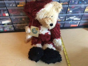"New Boyds Bears SANDY CLAUS 2 Christmas 16"" Plush Bear Soft Cuddly Hat NorthPole"