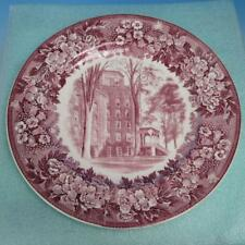 Wedgwood - Elmira College Founded 1855 - Collector Plate - The Ivy - Cowles Hall