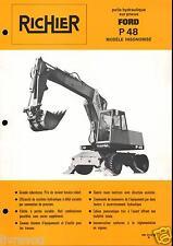 ▬►Prospectus de 1977 RICHIER TRACTO PELLE FORD P 48 NO POCLAIN
