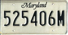 Maryland Car License Plate. 1981