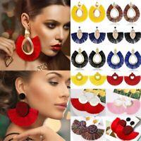 Fashion Bohemian Long Tassel Fringe Boho Dangle Earrings Jewelry Hook Hot Women