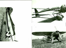 SET OF 3 - LOT #26  B&W 4X6 PHOTOGRAPHS - RACING AIRPLANES MYSTERY & AVIATION