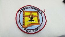 USS Albuquerque SSN 706 Made in USA BC Patch Embroidered Submarine Ball Cap