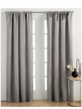 "Hotel Collection Keystone 54"" x 84"" Geometric Cotton Window Curtain Panel Gray"