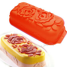 Rose Flower Loaf Pan Silicone Birthday Jello Cake Gelatina Mold Baking Mould