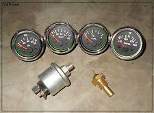 Oil+temp Sender 52mm Electrical Oil Pressure + Temp + Volt + Fuel Gauge-BLK