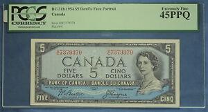 Canada 1954 - Bank of Canada - $ 5 - BC-31b  - Beattie-Coyne - Devil's Face