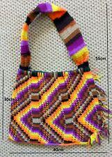 "Traditional ""fibre art"" hand made New Guinea PNG Bilum Bag, hand woven."