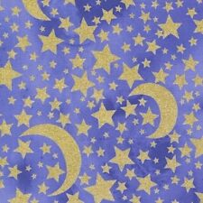 Michael Miller Moon and Stars CM6793 Grape BTY Cotton Fabric FREE US SHIPPING