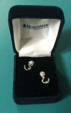 Montana Silversmith Dainty Ladies Girls CZ Silver Horseshoe Earrings Studs