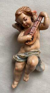 Vintage spielende Putte Engel Wandengel