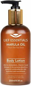 LIEF ESSENTIALS Body Lotion with Pure Organic African Marula Oil. Suitable For A