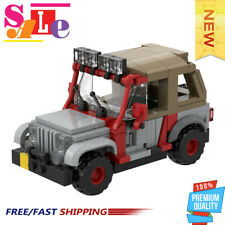 48461 Building Blocks Set for Jurassic Park Staff Jeep with Soft Top Brick Toys