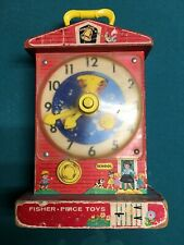 Vintage 1968 Fisher Price Music Box Teaching Clock