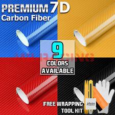 *7D Premium High Gloss Carbon Fiber Vinyl Wrap Bubble Free Air Release Decal 6D
