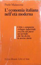 L'economia italiana nell'età moderna - P.Malanima - Ed.Riuniti-economia
