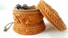 Jewelry Storage Handmade Hand Carved Home Decor Wooden Keepsake Trinket Ring Box