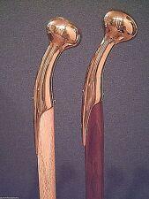 brass hame handle custom tapered designer series walking stick cane rubber tip