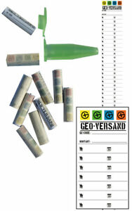 5 x Logstreifen Geocaching Schraube Globuli Gluboli gerollt Mini Logbuch Micro .