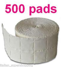 ROTOLO 500 PADS KIT CELLULOSA RICOSTRUZIONE UNGHIE GEL SMALTO CLEANER SGRASSANTE