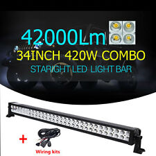 SUPER IP67 32inch 420w  Combo Jeep 12Volt light bar LED for trucks+Accessories
