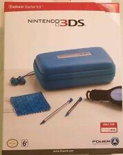 Nintendo 3DS Blue Explorer Starter Kit Power A Case and Power Gift Set